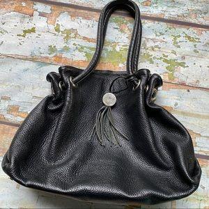Furla genuine leather black shoulder bag
